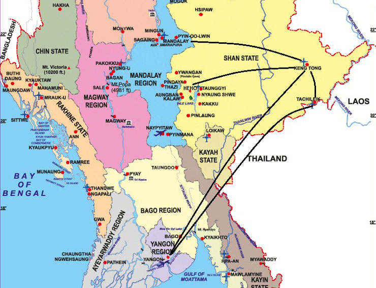 map-for-myanmar-golden-triangle-tour